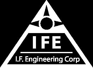 white I.F. Engineering Corp logo